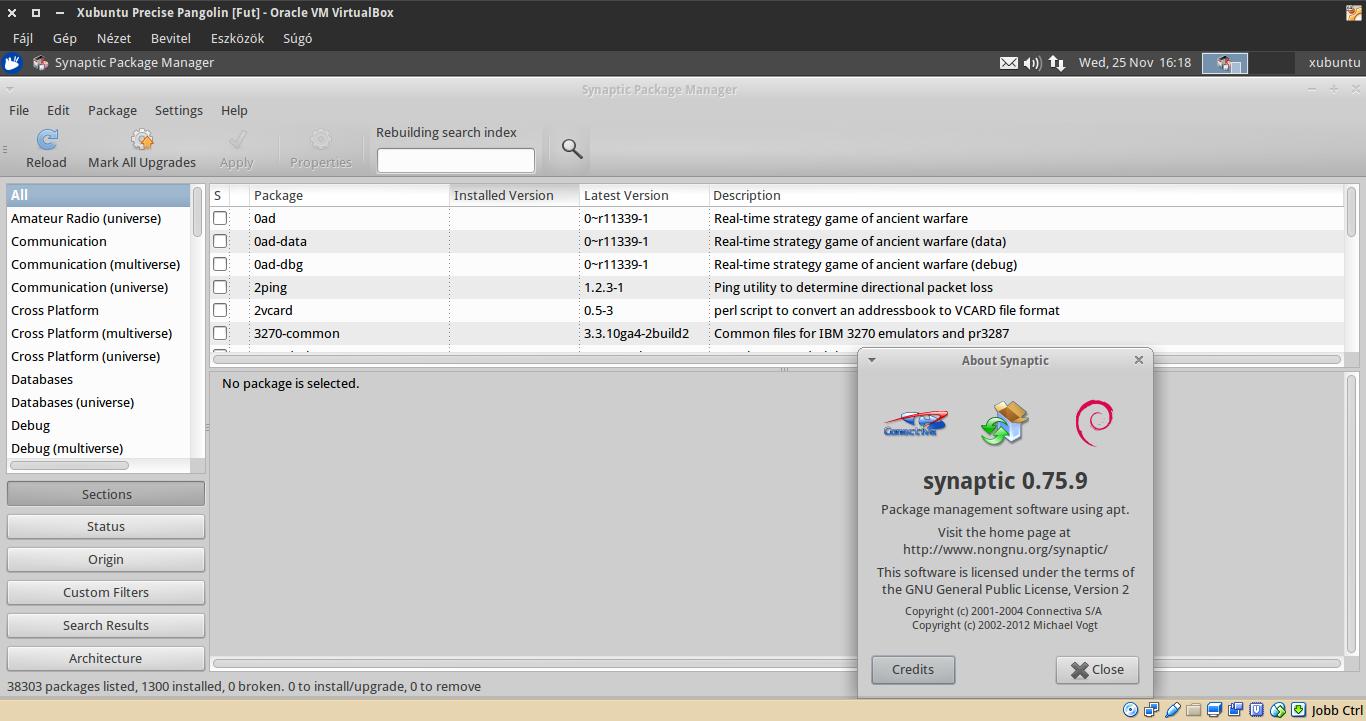 Xubuntu 12.04 Synaptic