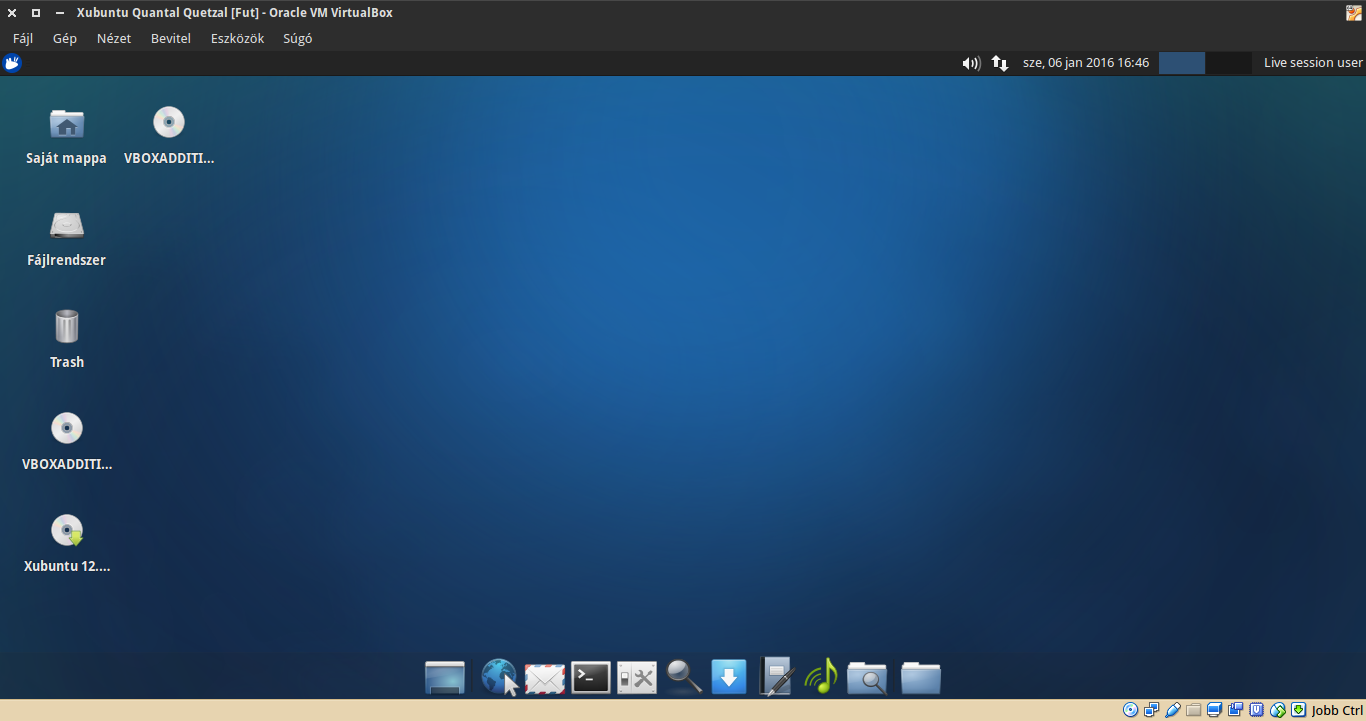 Xubuntu 12.10 asztal
