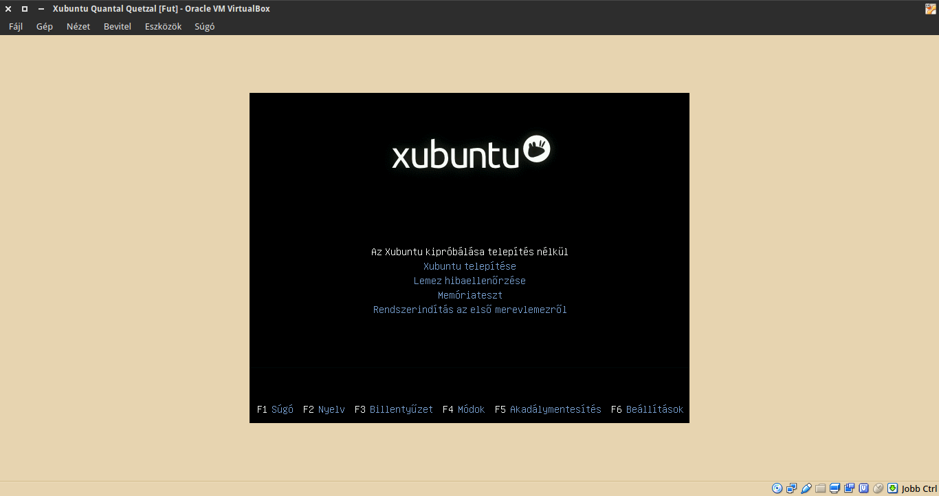 Xubuntu 12.10 boot menü