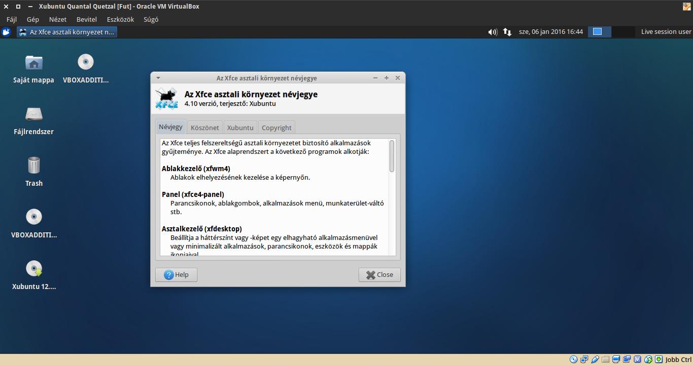 Xubuntu 12.10 névjegy