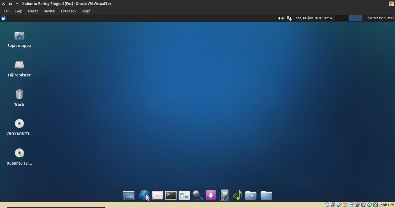 Xubuntu 13.04 asztal