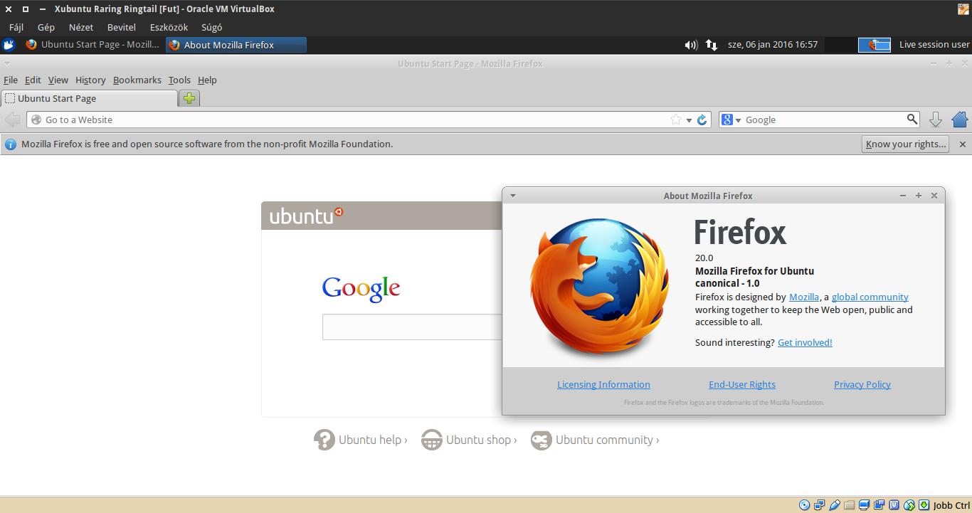 Xubuntu 13.04 Firefox