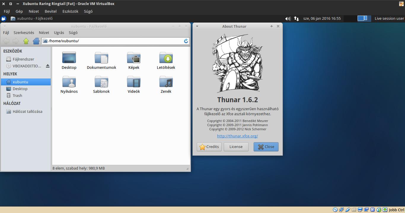 Xubuntu 13.04 Thunar