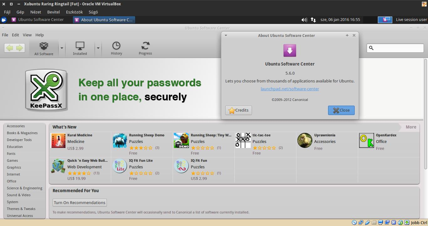 Xubuntu 13.04 Szoftverközpont