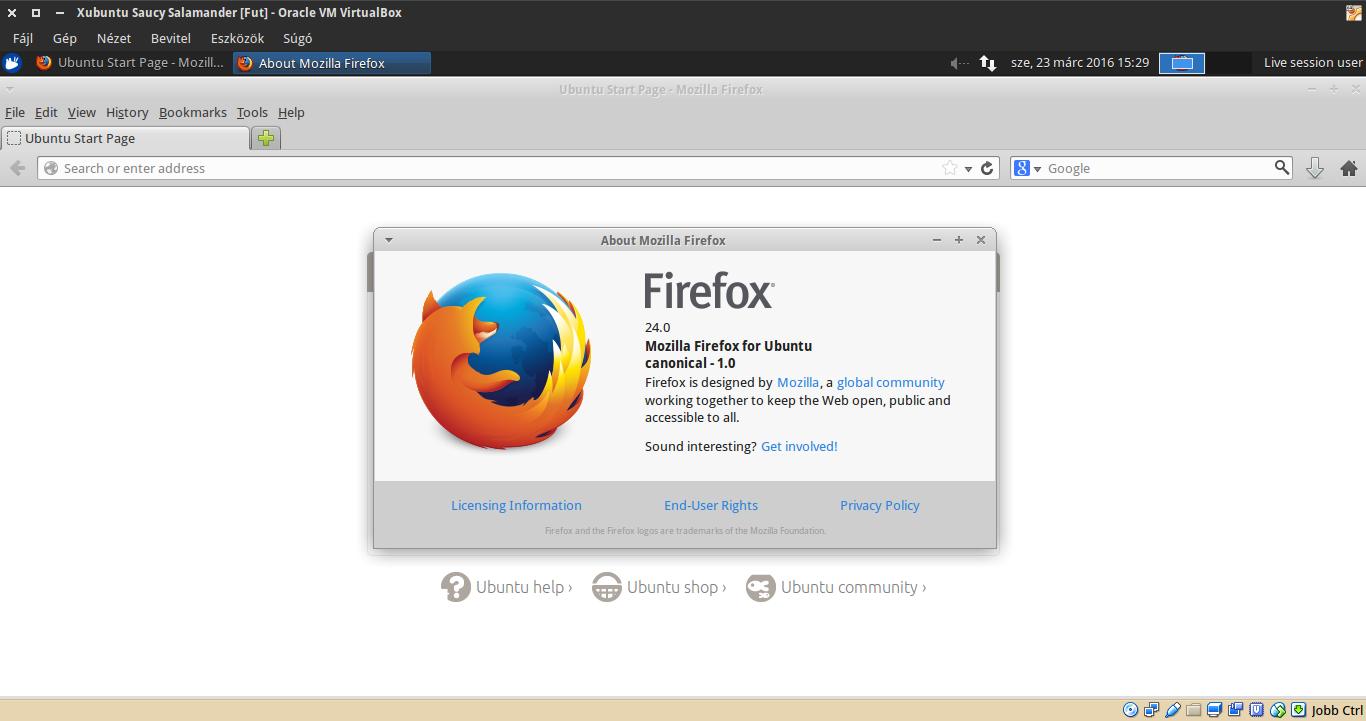 Xubuntu 13.10 Firefox