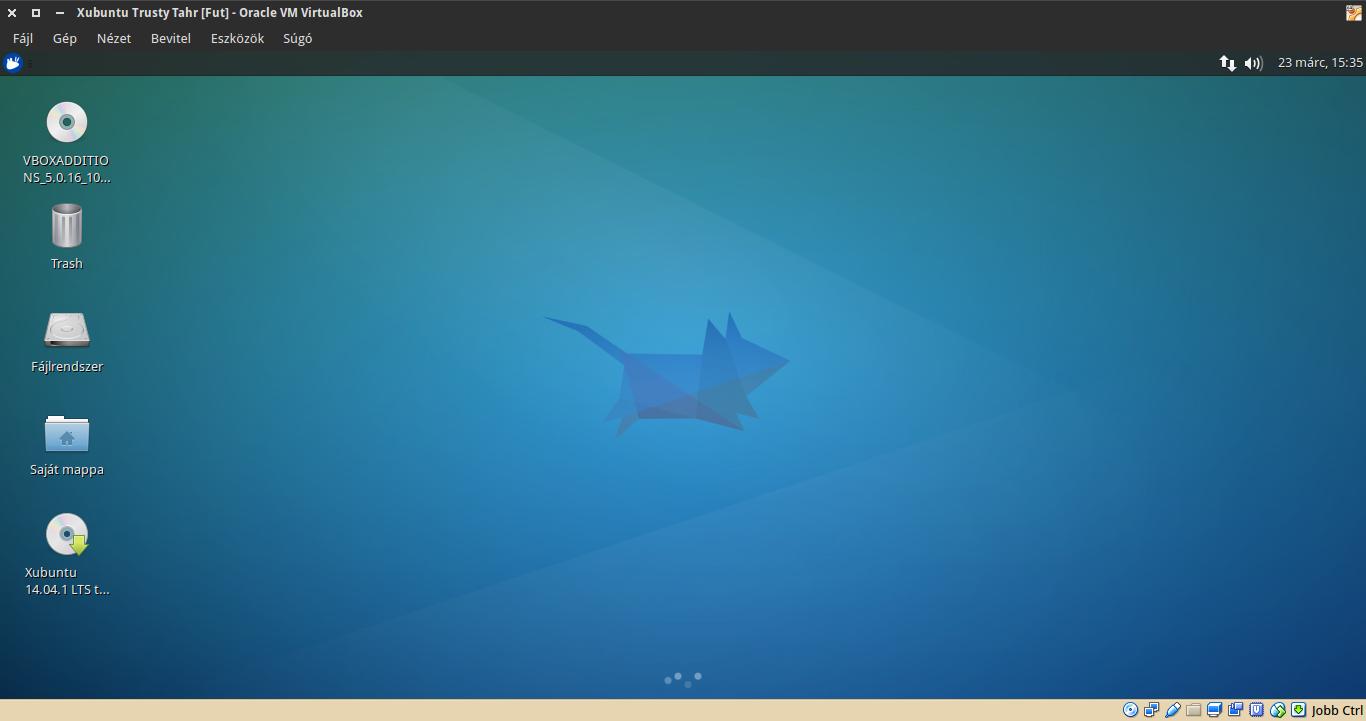 Xubuntu 14.04 asztal