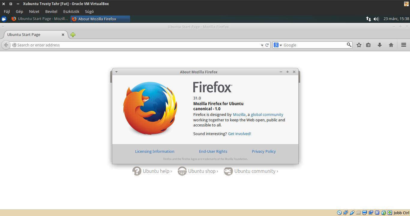 Xubuntu 14.04 Firefox