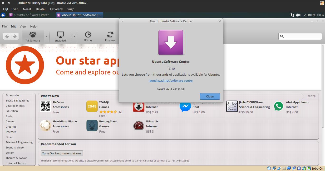 Xubuntu 14.04 Ubuntu szoftverközpont
