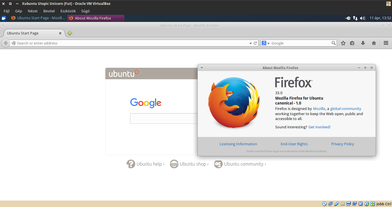 Xubuntu 14.10 Firefox
