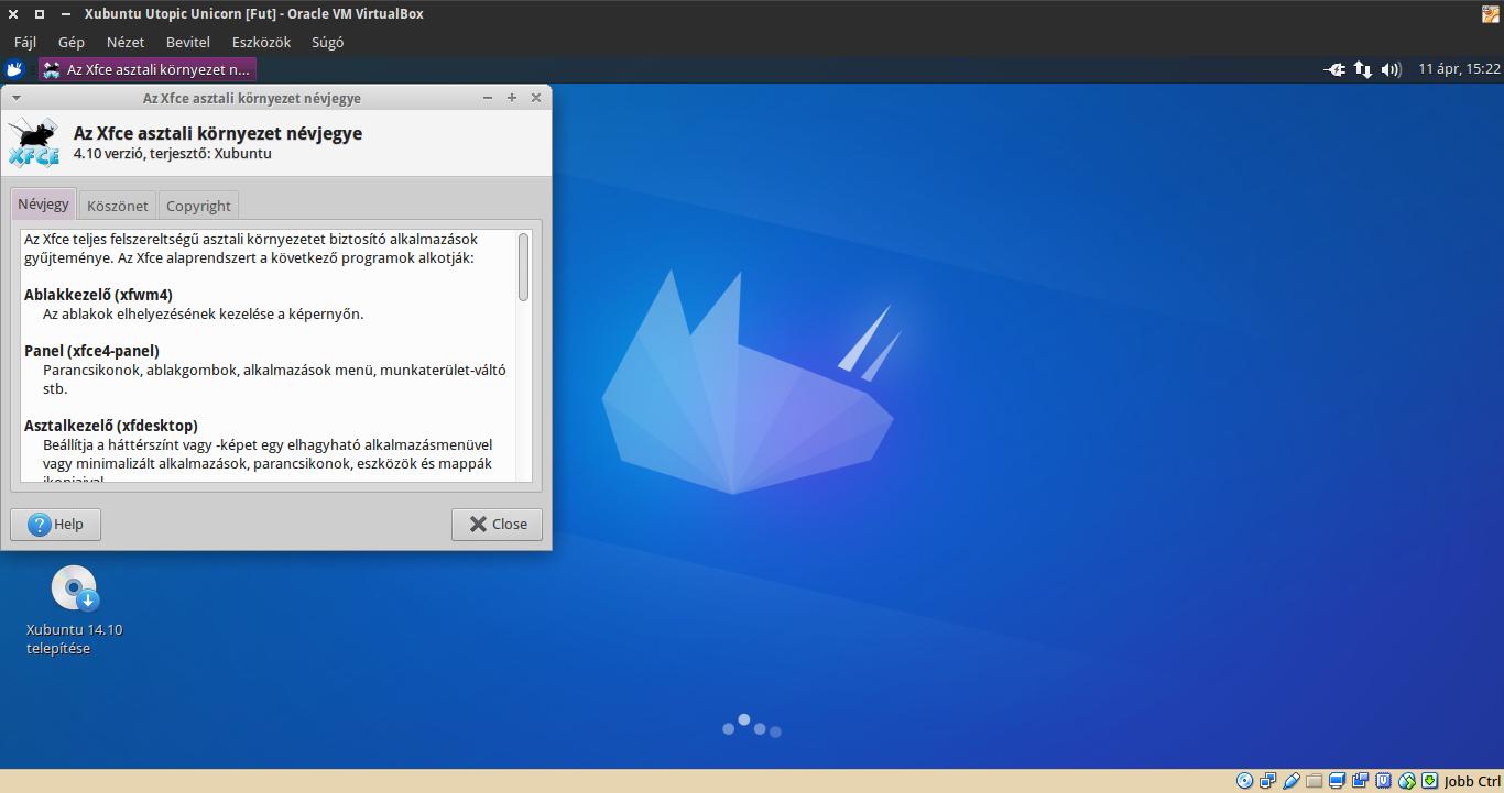 Xubuntu 14.10 névjegy
