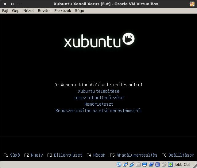 Xubuntu 16.04 boot menü