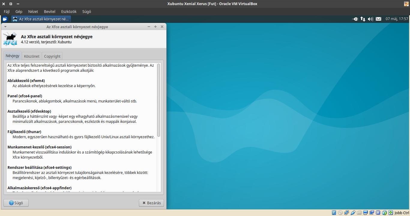Xubuntu 16.04 névjegy