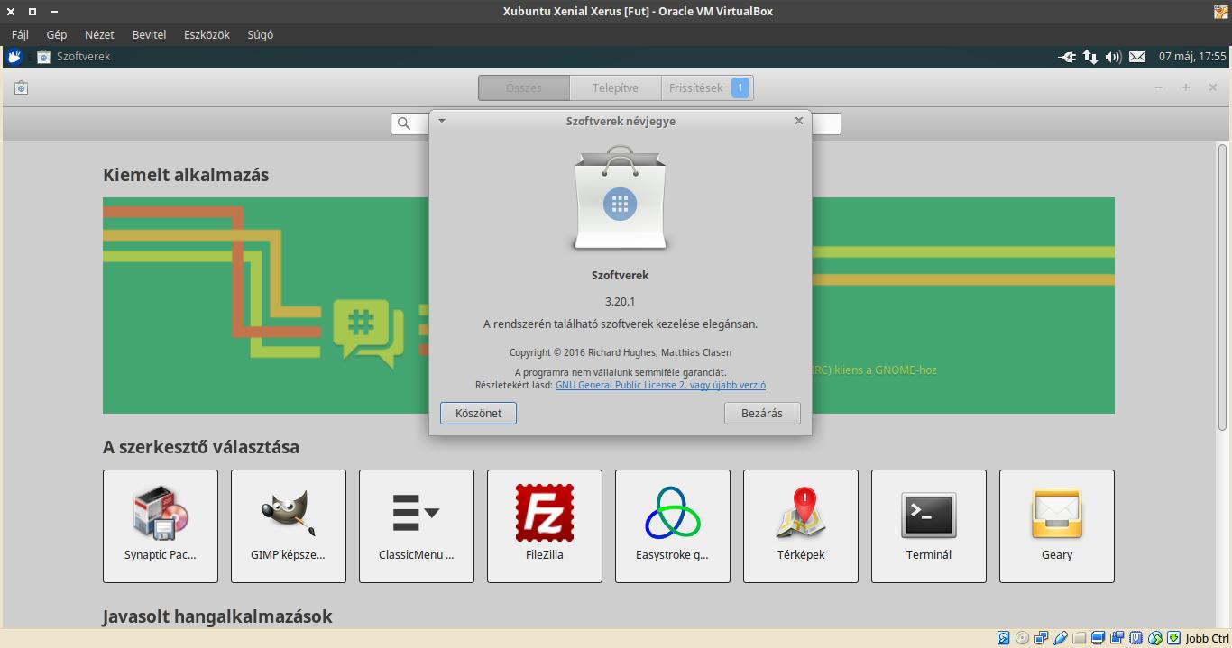 Xubuntu 16.04 Gnome Szoftverek