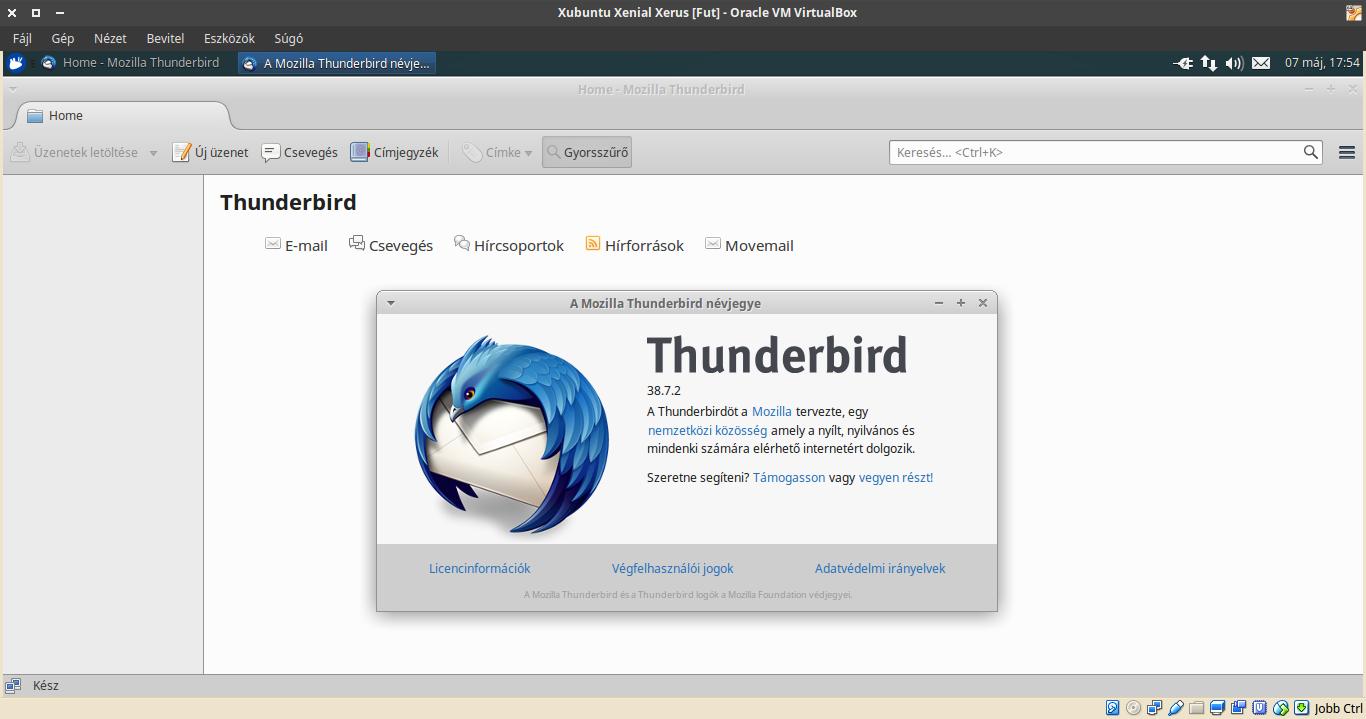 Xubuntu 16.04 Thunderbird