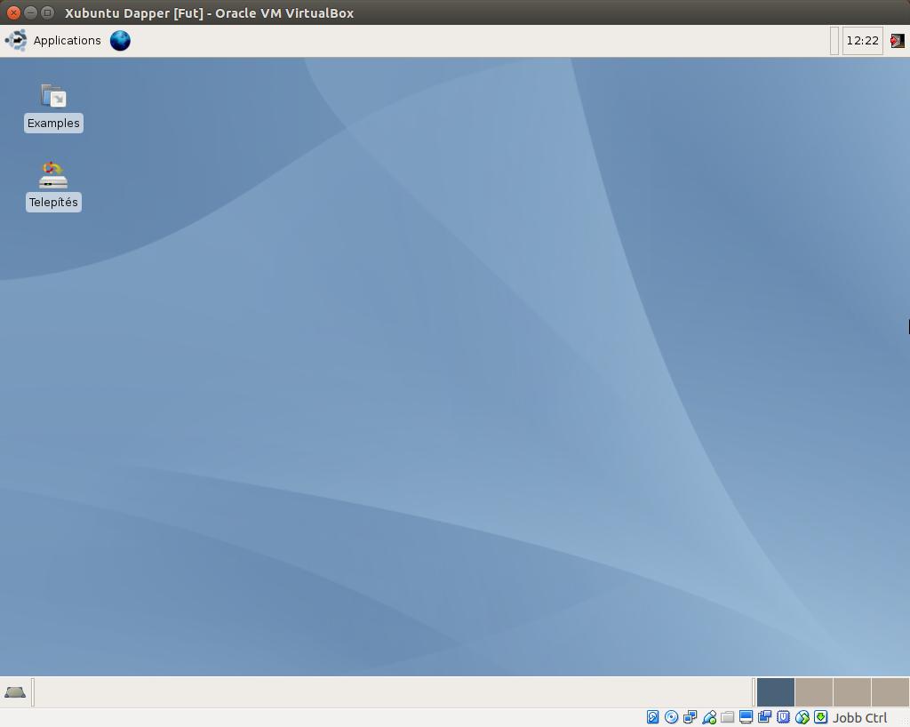 Xubuntu 6.06 asztal