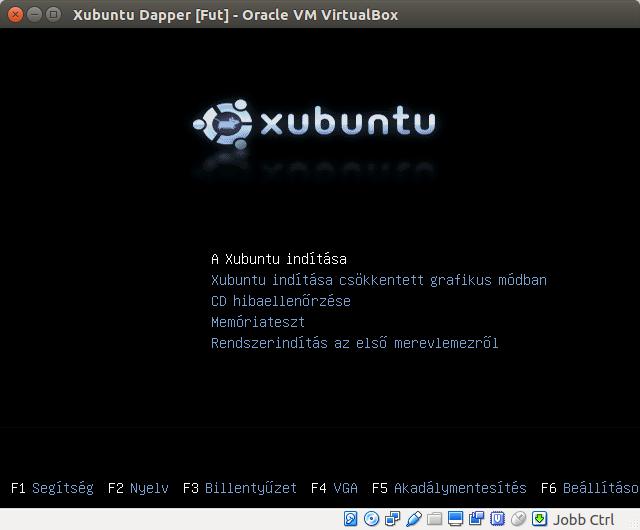 Xubuntu 6.06 boot menü