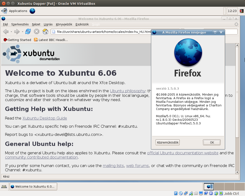Xubuntu 6.06 Firefox