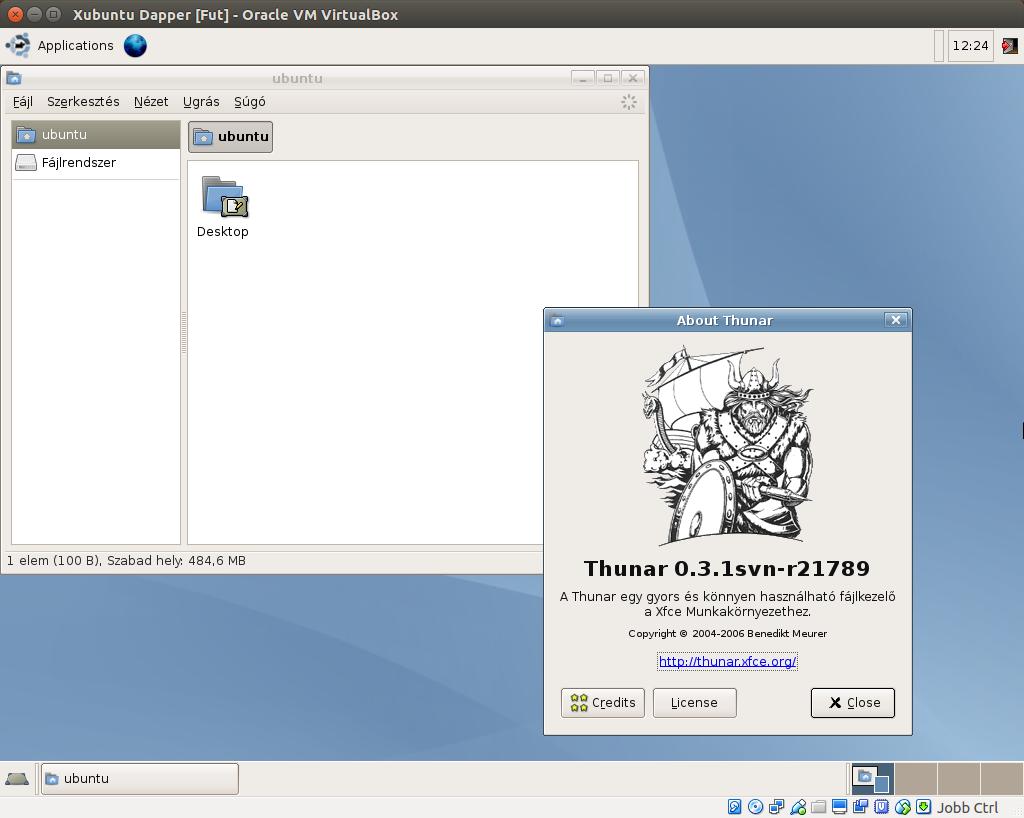 Xubuntu 6.06 Thunar