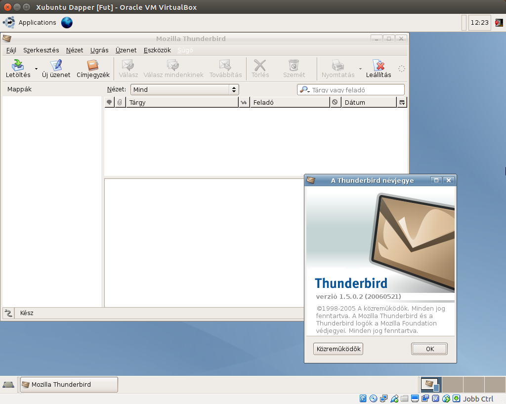 Xubuntu 6.06 Thunderbird