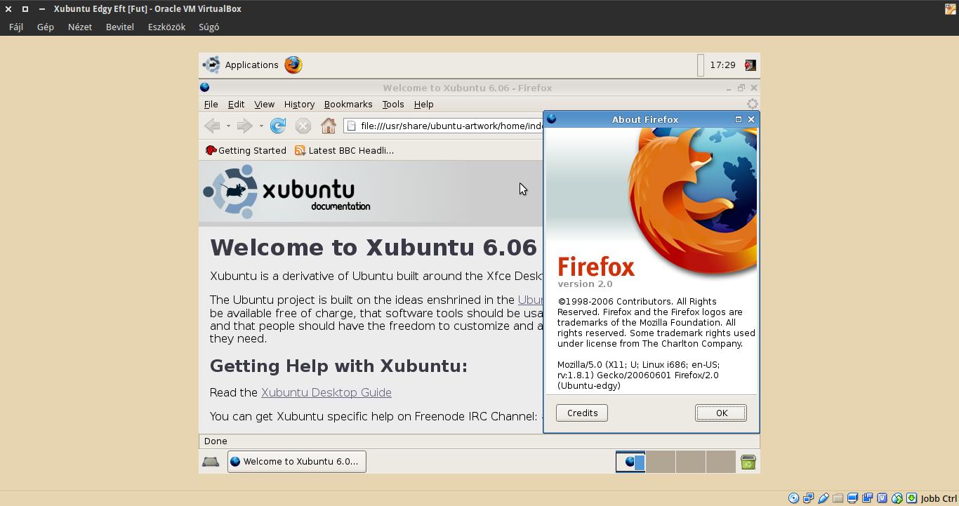 Xubuntu 6.10 Firefox