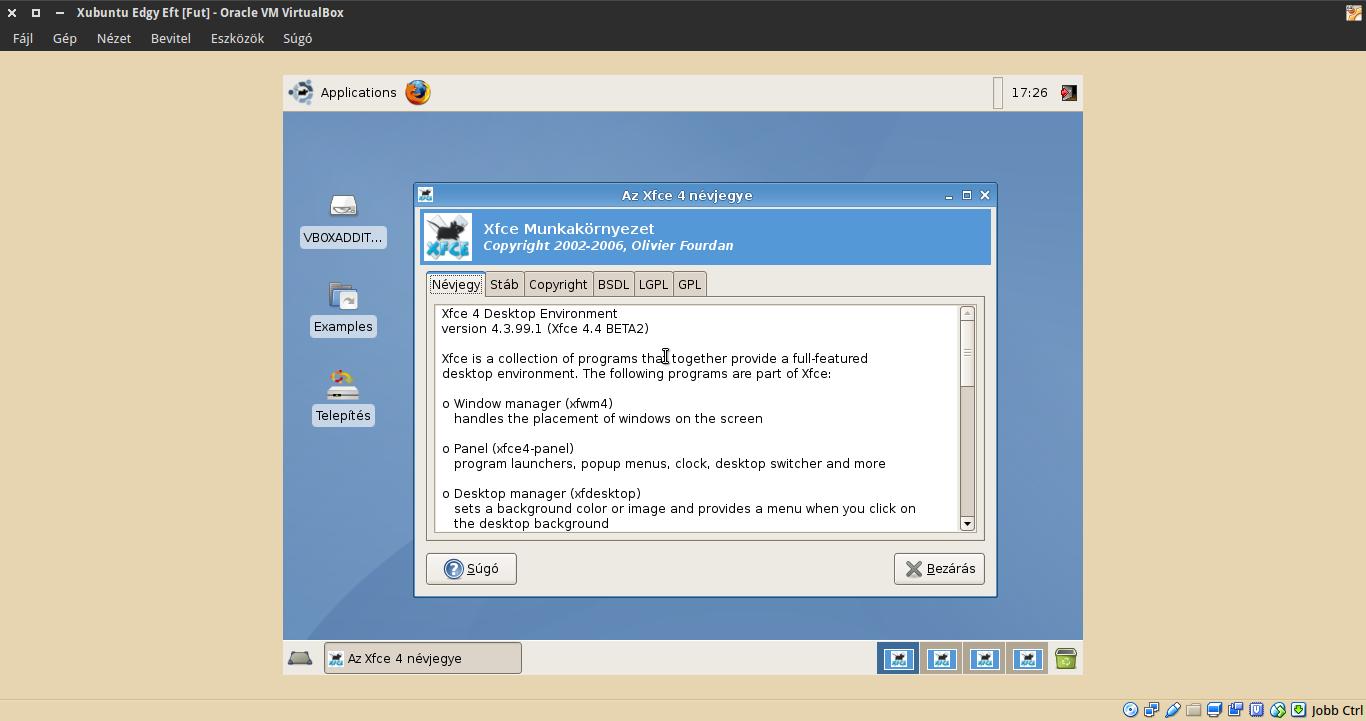 Xubuntu 6.10 névjegy