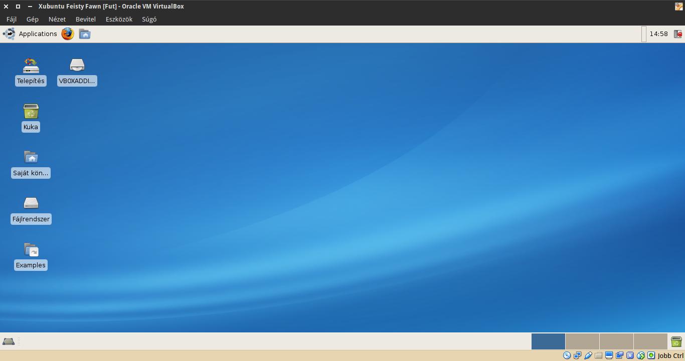 Xubuntu 7.04 asztal