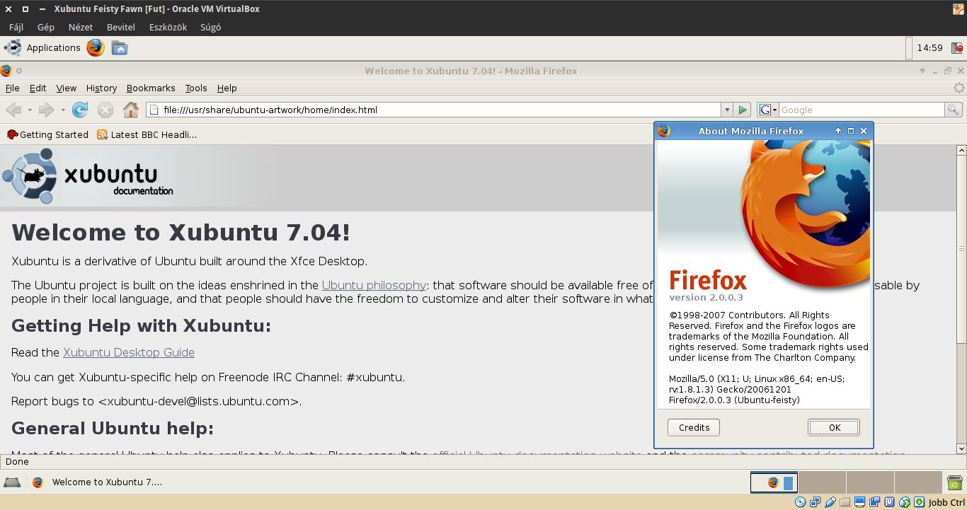 Xubuntu 7.04 Firefox