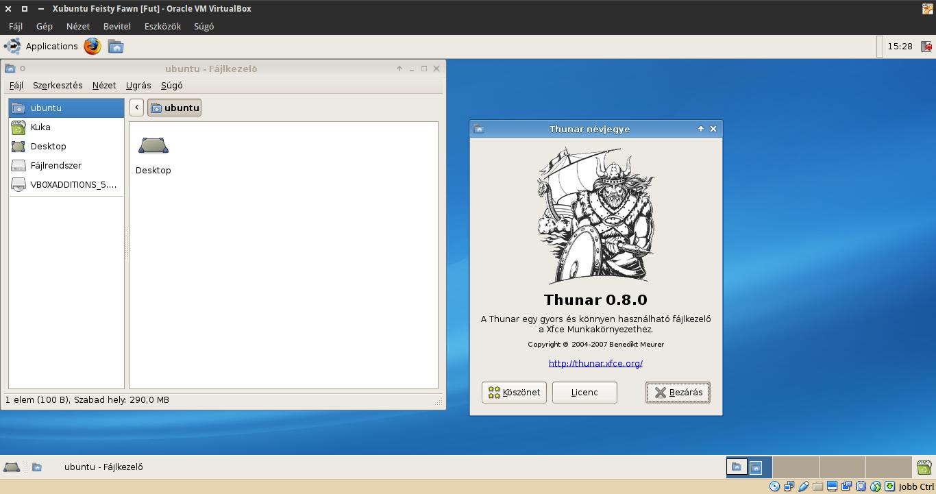 Xubuntu 7.04 Thunar