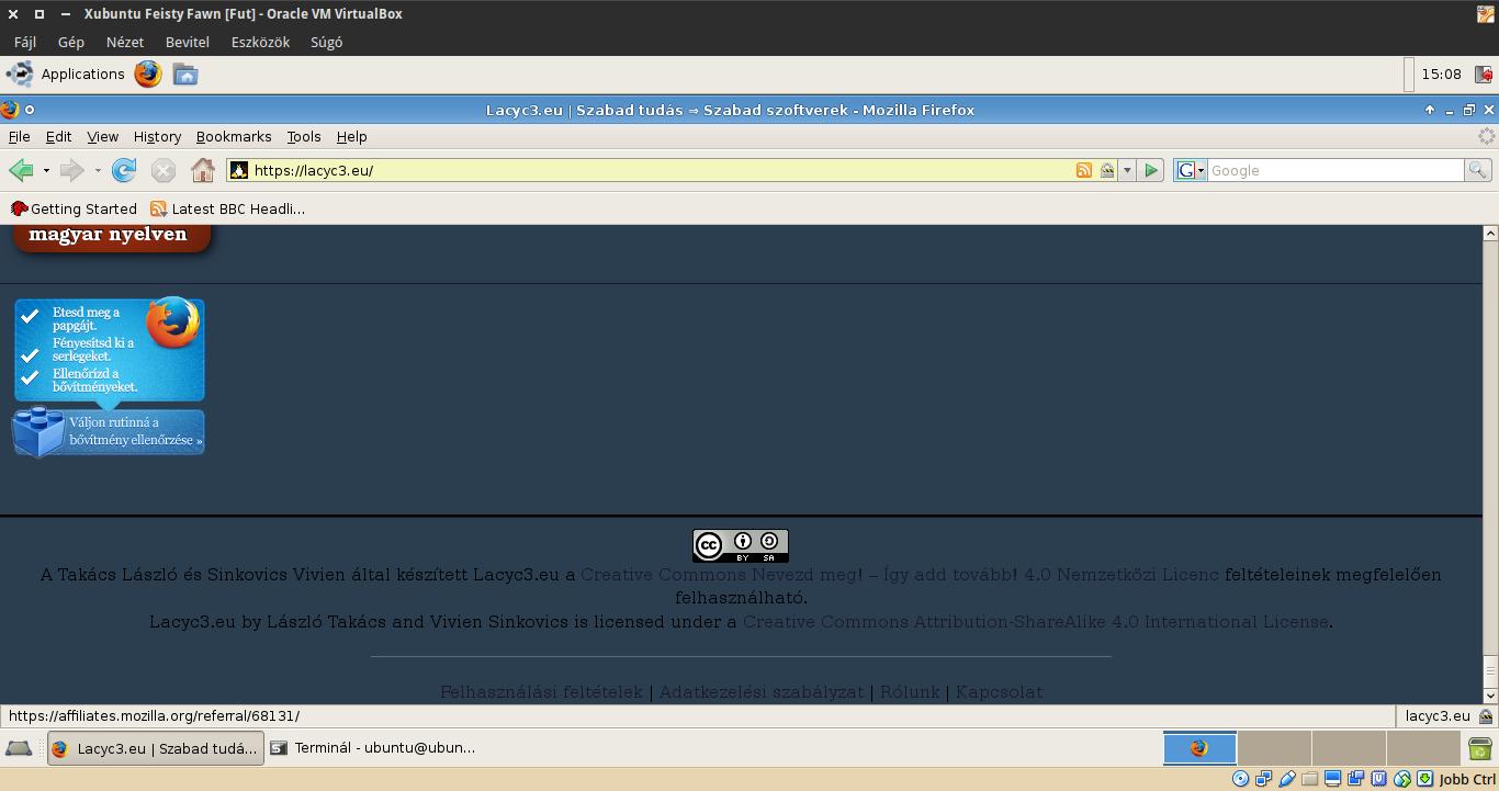 Lacyc3.eu és Firefox 2