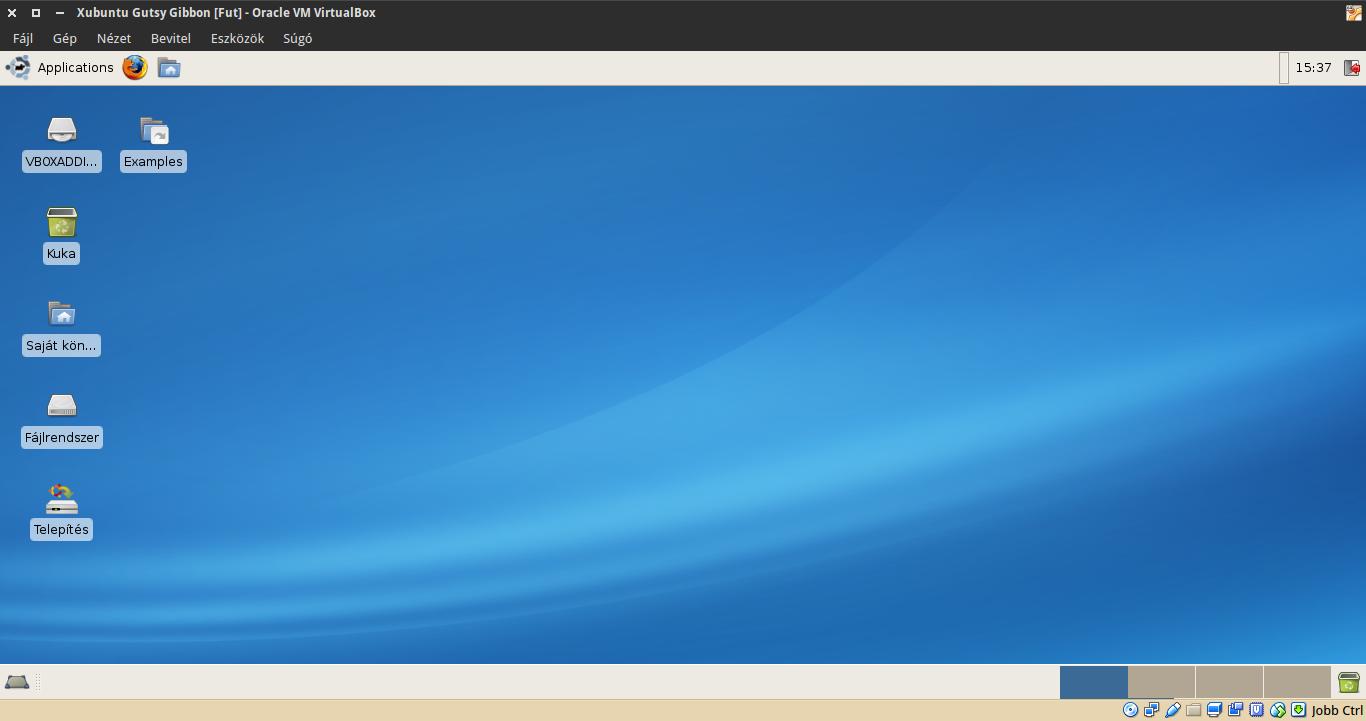 Xubuntu 7.10 asztal