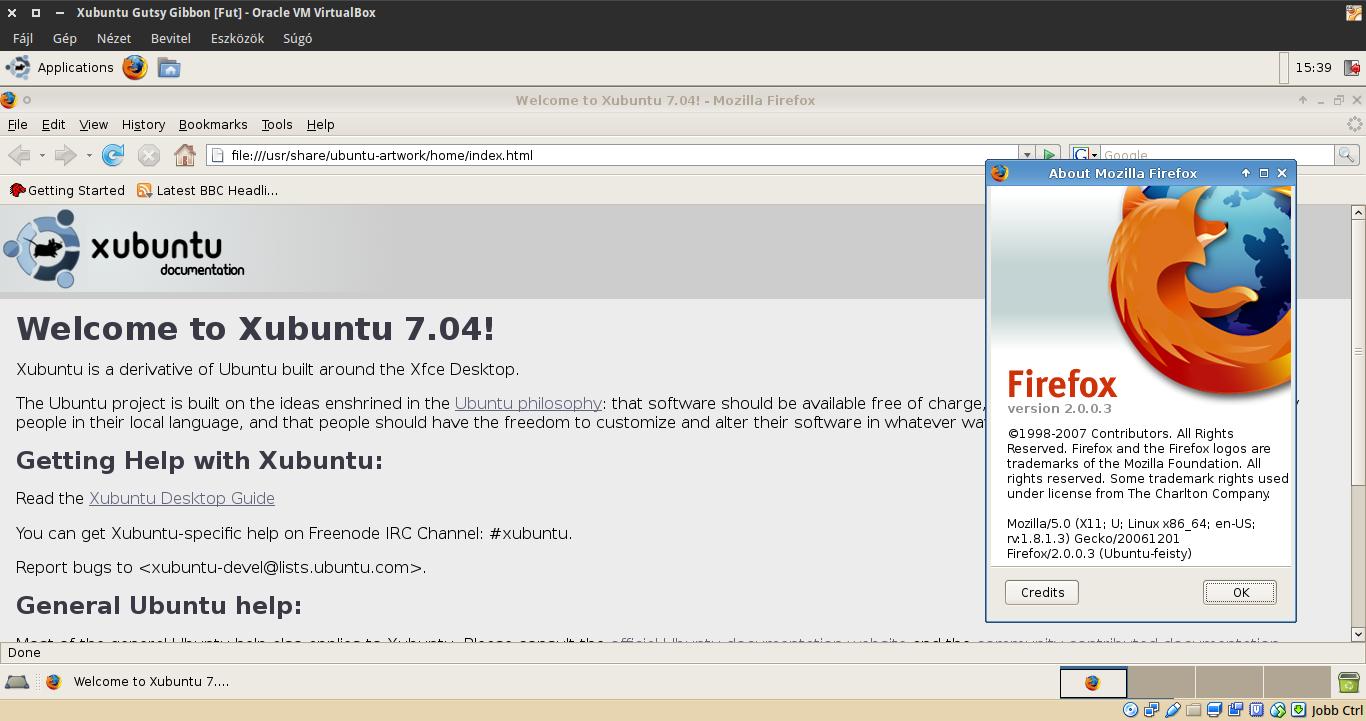 Xubuntu 7.10 Firefox