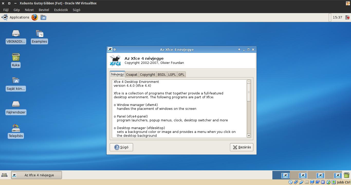 Xubuntu 7.10 névjegy