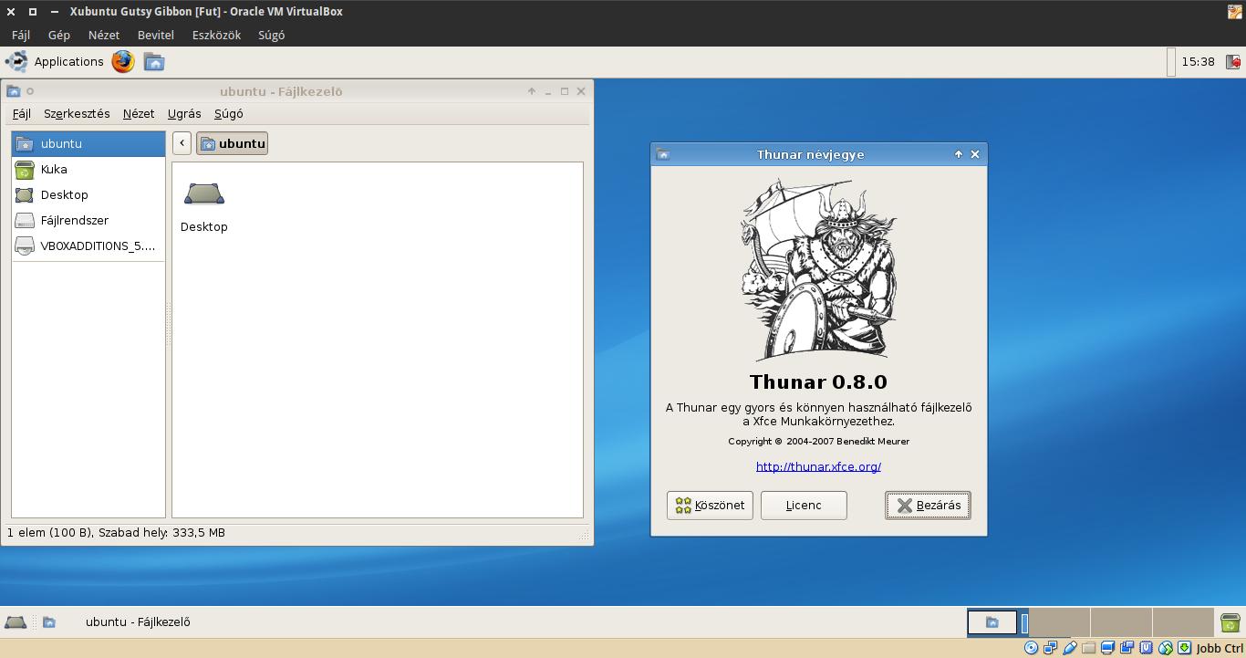 Xubuntu 7.10 Thunar