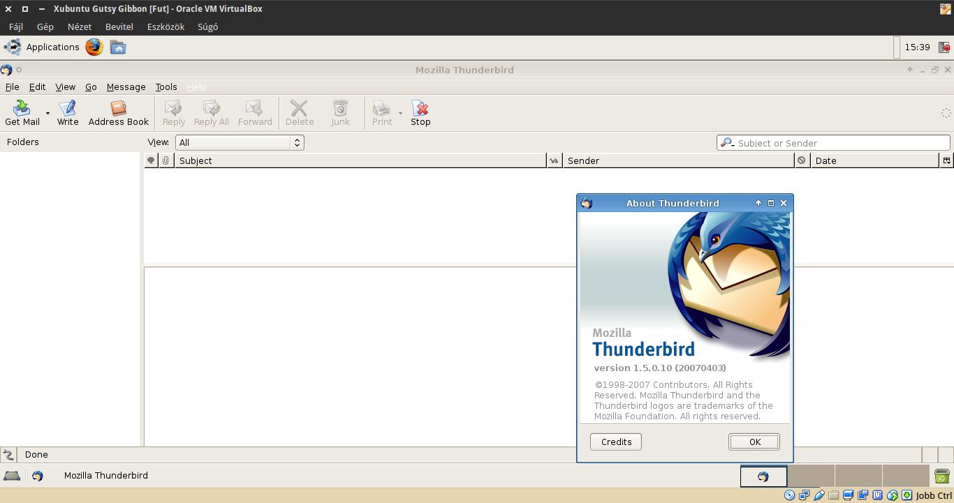 Xubuntu 7.10 Thunderbird