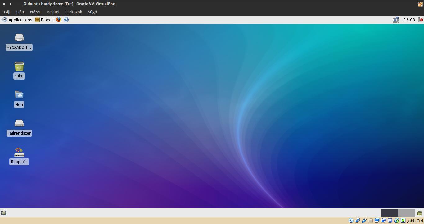 Xubuntu 8.04 asztal