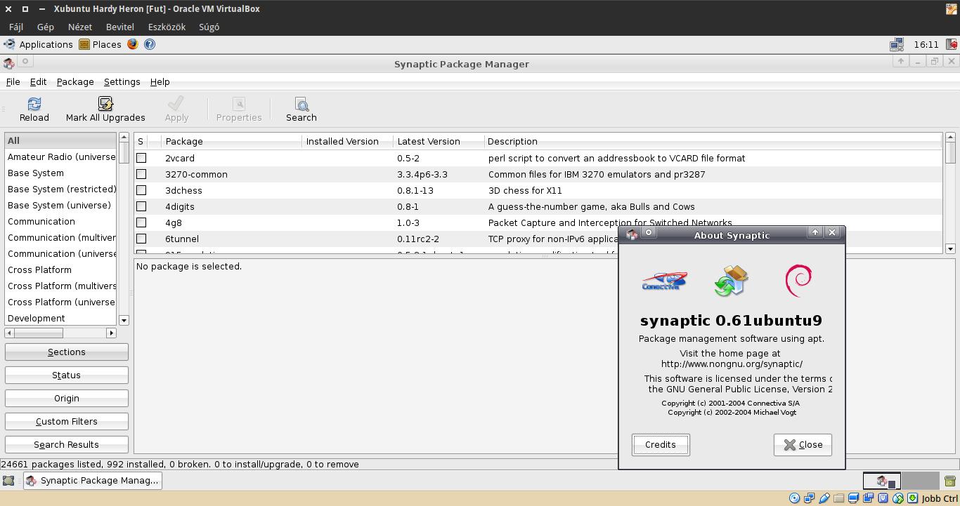 Xubuntu 8.04 Synaptic
