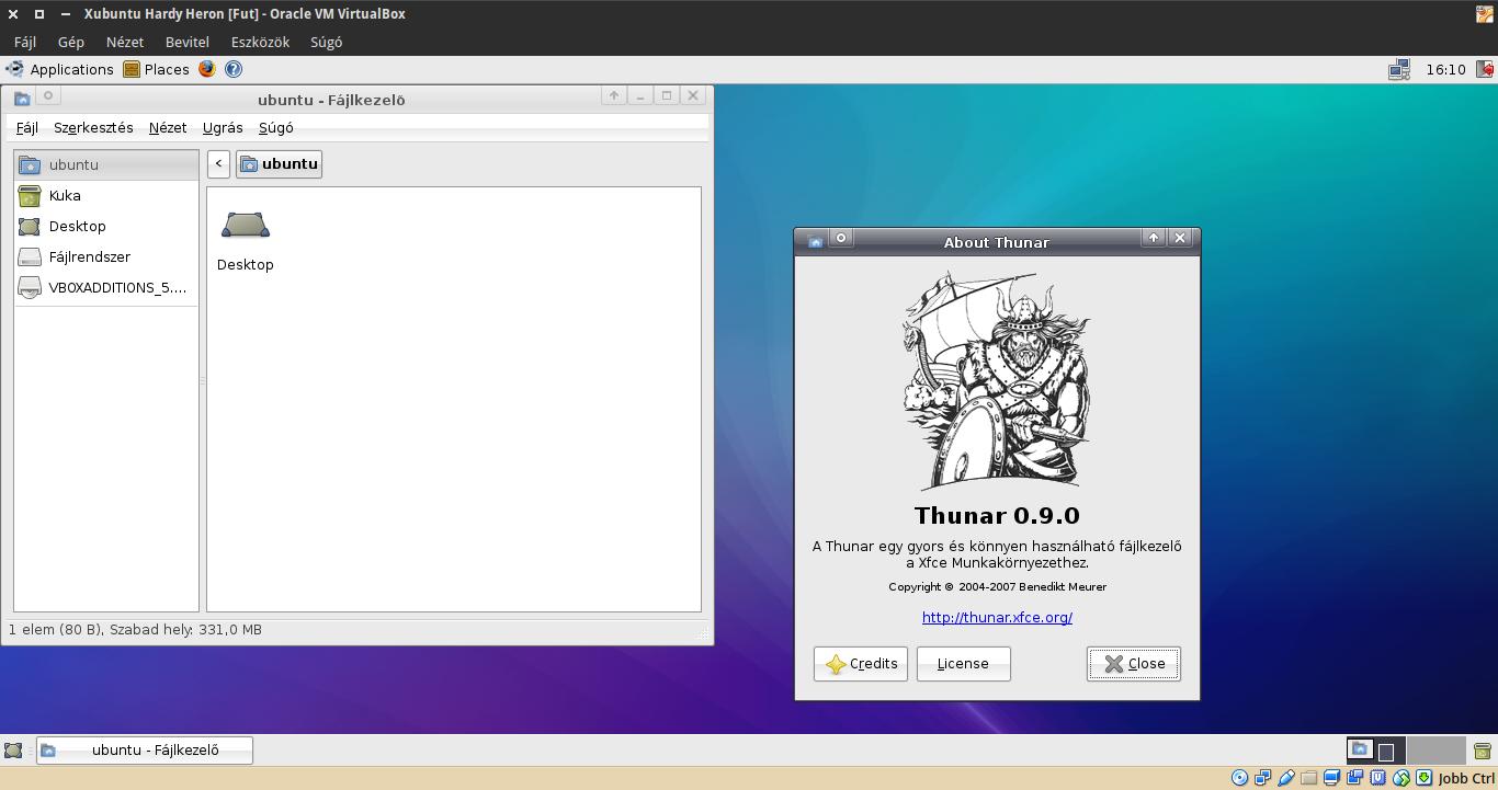 Xubuntu 8.04 Thunar