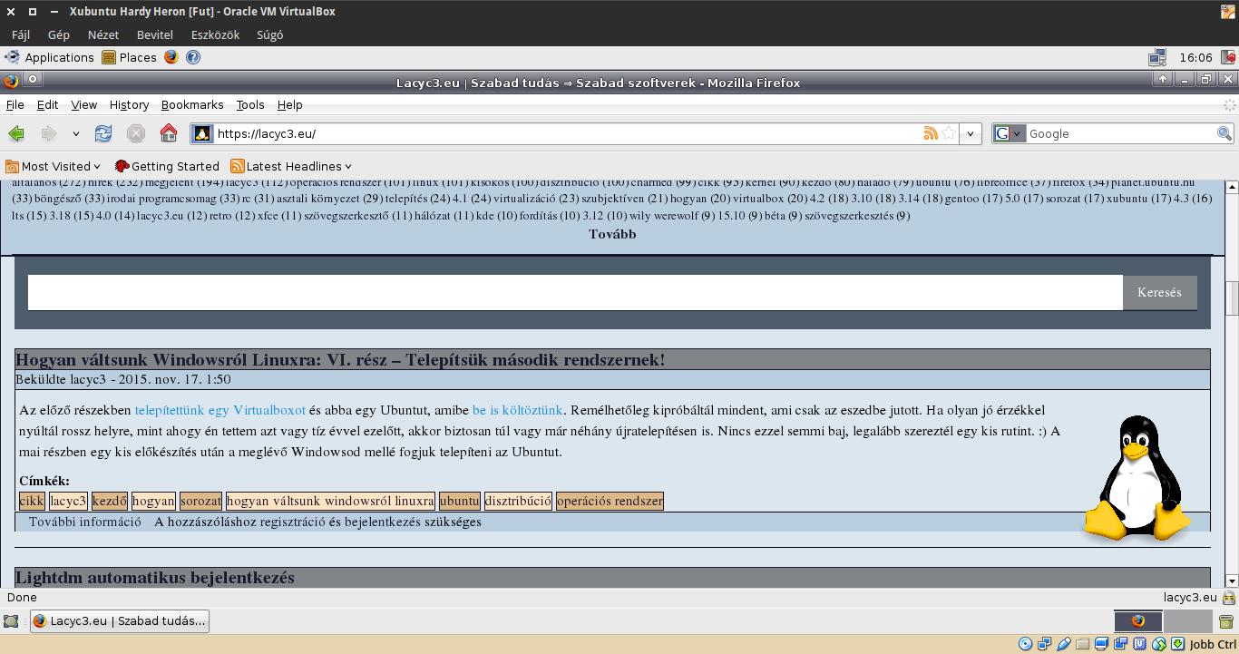 Lacyc3.eu és Firefox 3