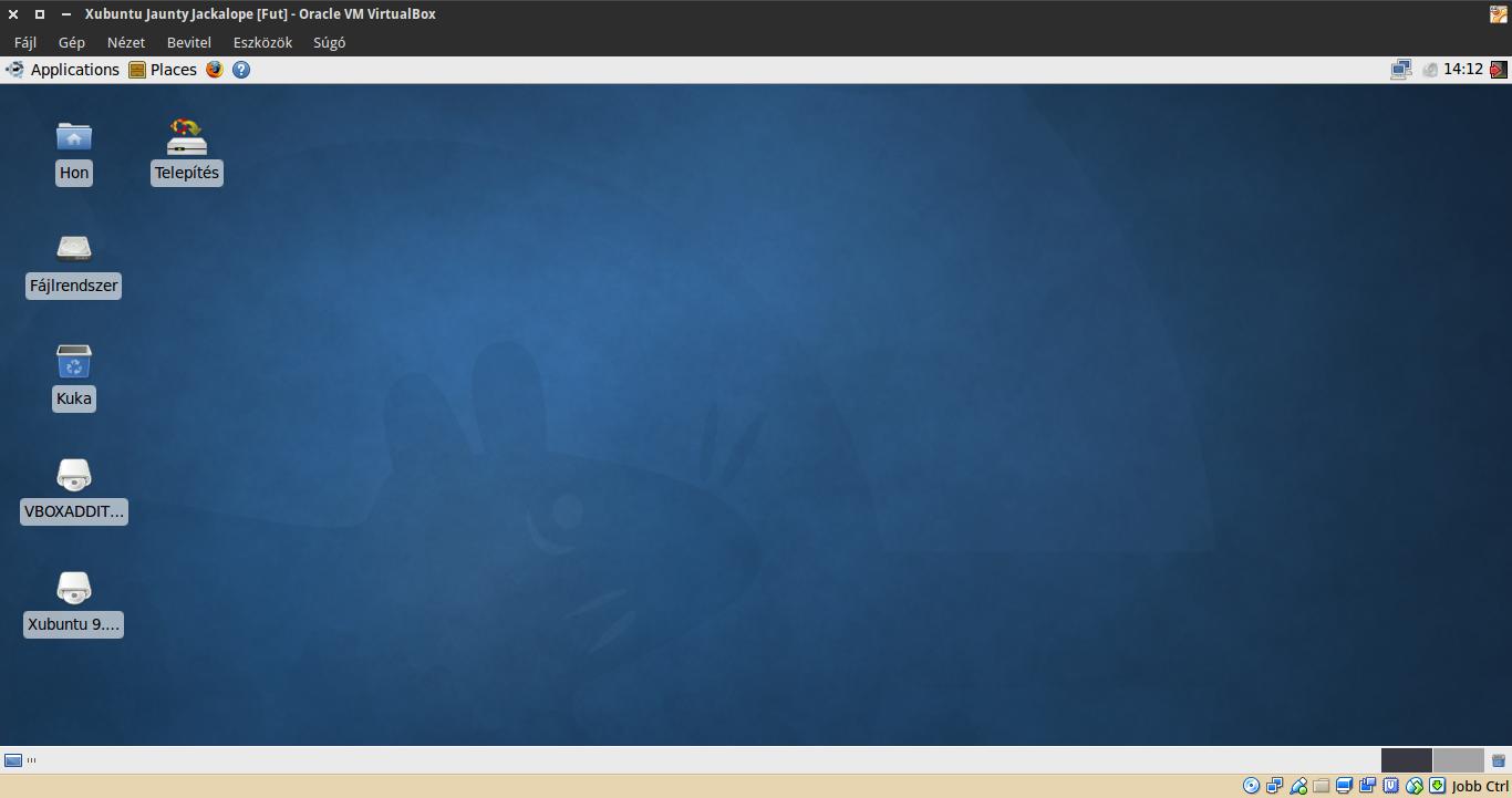 Xubuntu 9.04 asztal