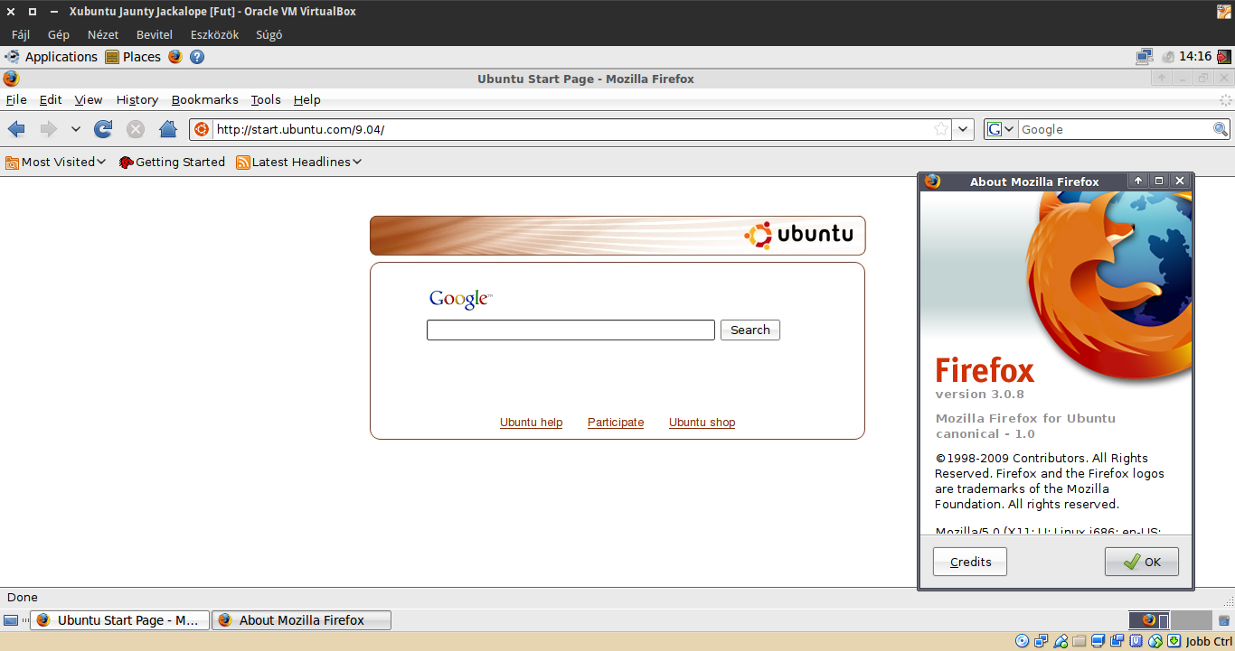 Xubuntu 9.04 Firefox
