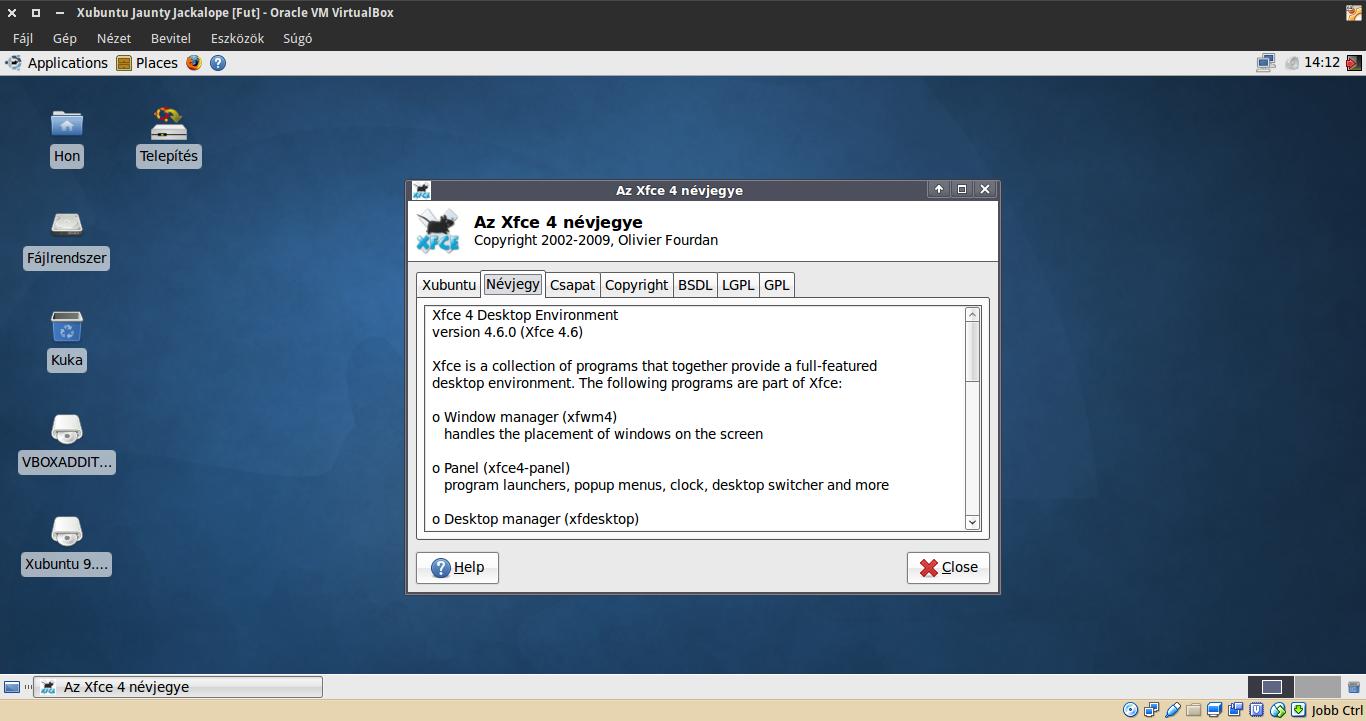 Xubuntu 9.04 névjegy