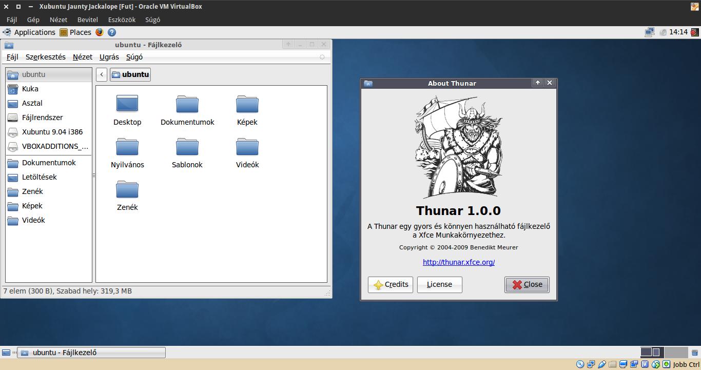 Xubuntu 9.04 Thunar