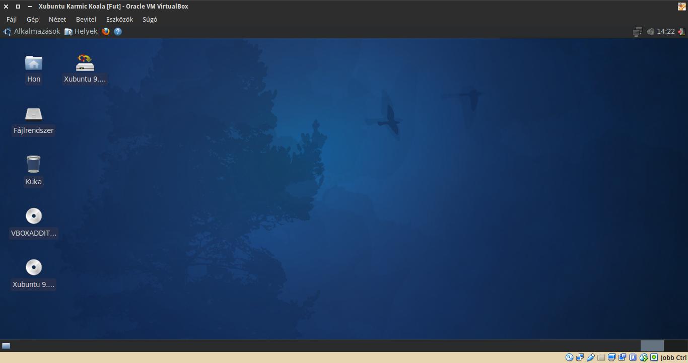 Xubuntu 9.10 asztal
