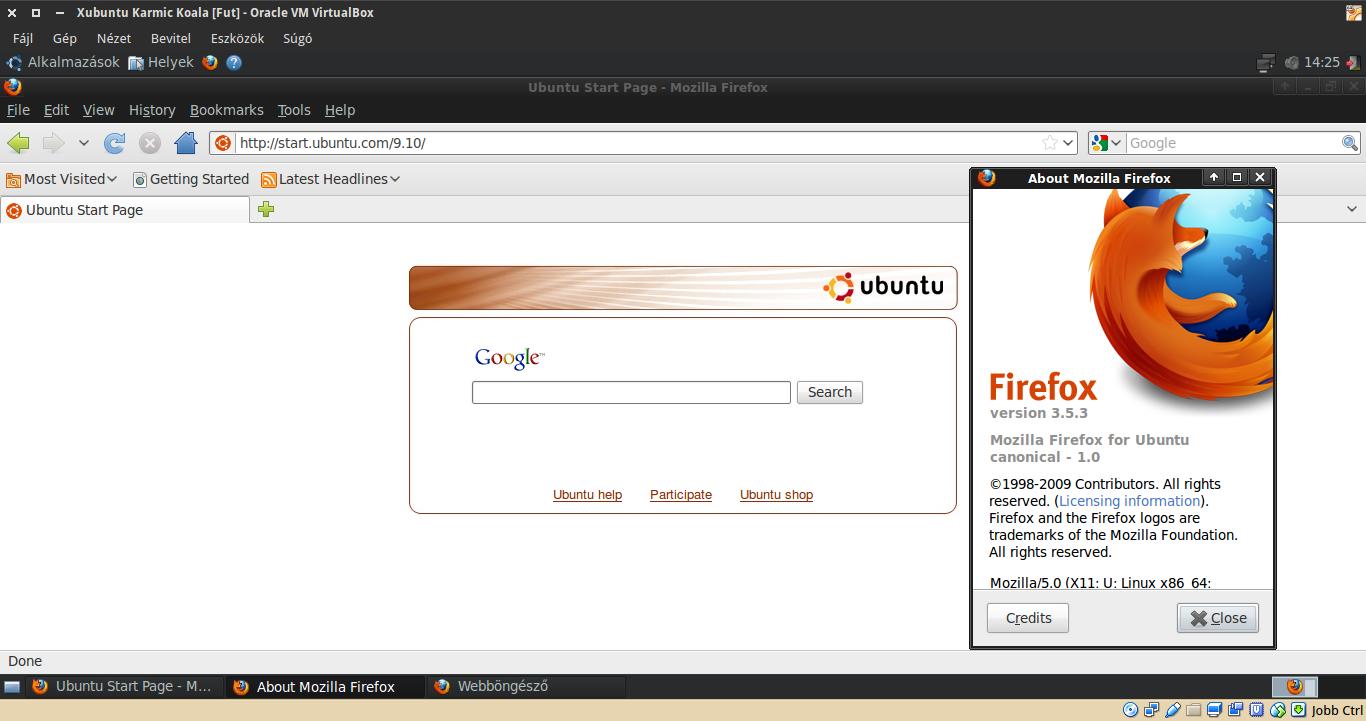 Xubuntu 9.10 Firefox