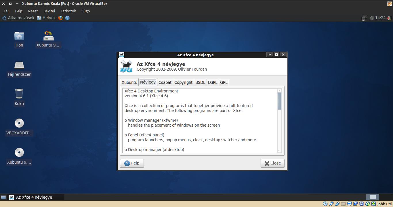 Xubuntu 9.10 névjegy
