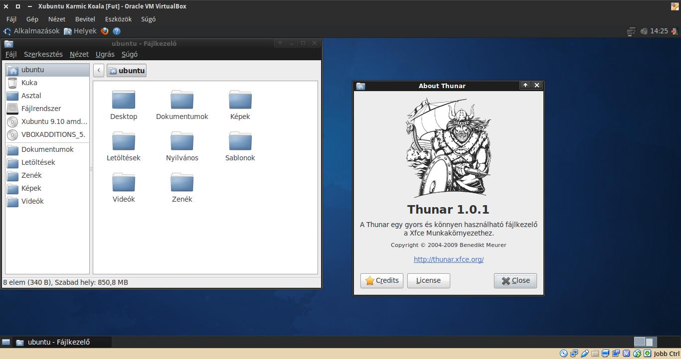 Xubuntu 9.10 Thunar