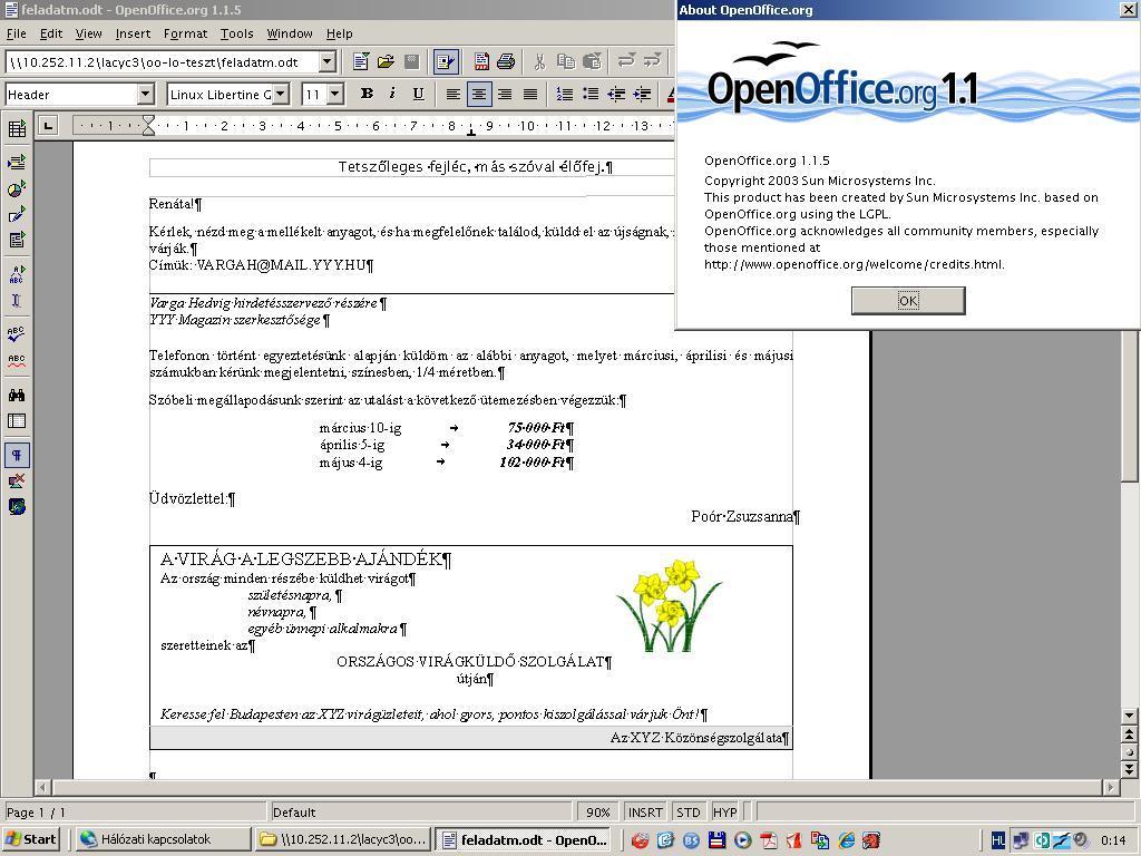 OpenOffice 1.1.5