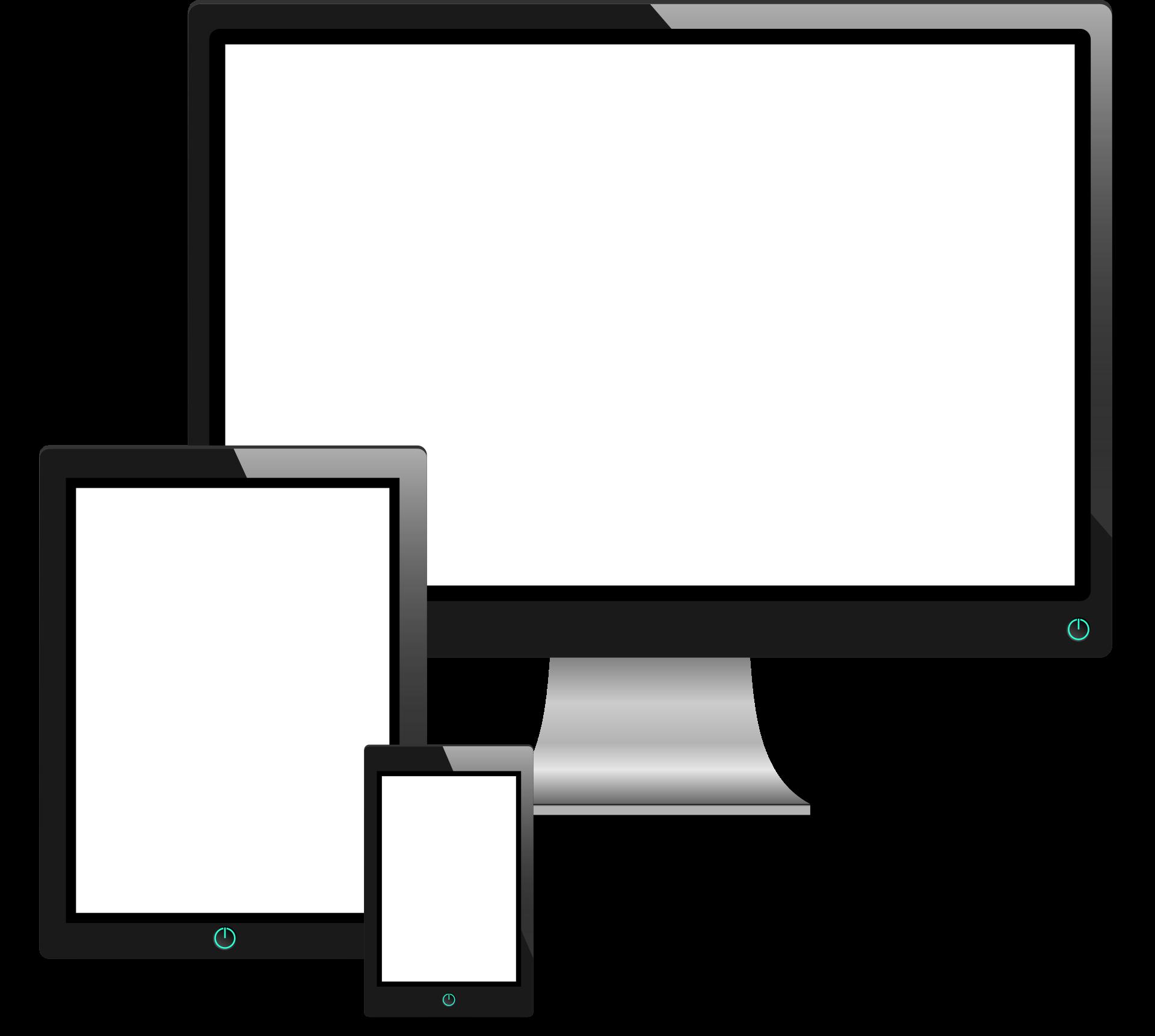 okostelefon, táblagép, számítógép illusztráció