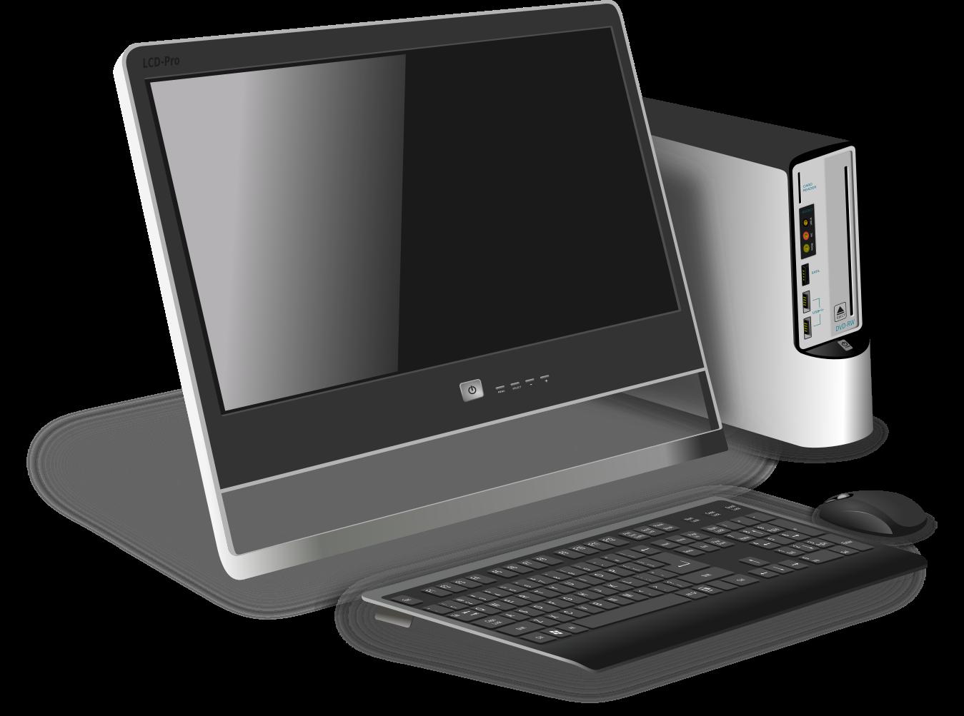 számítógép illusztráció