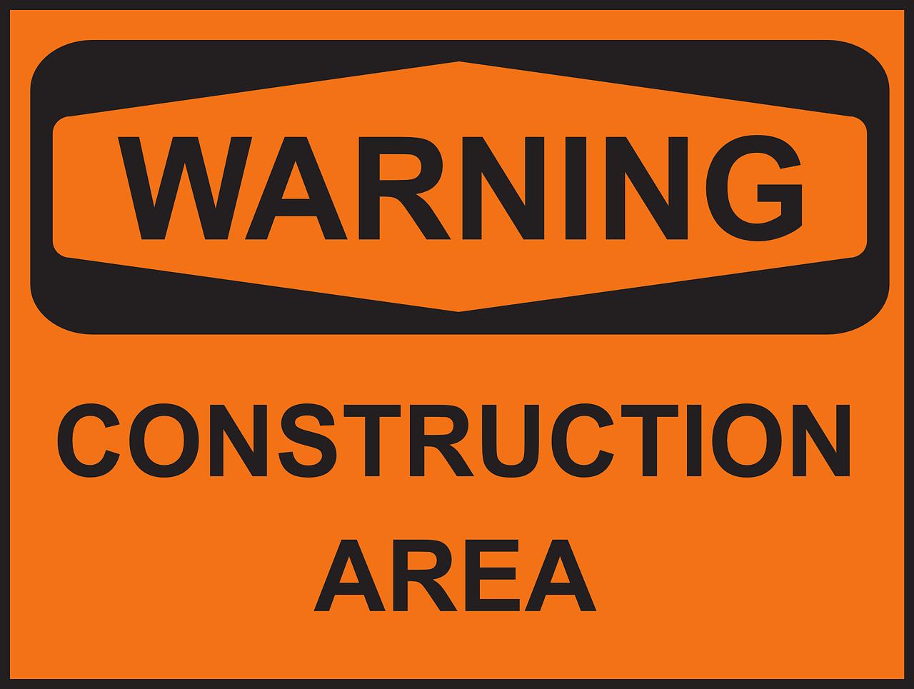 illusztráció: építési terület tábla